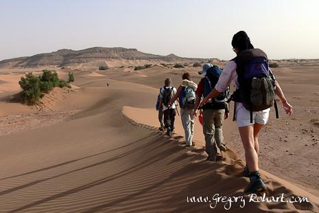 Randonnée au milieu des dunes