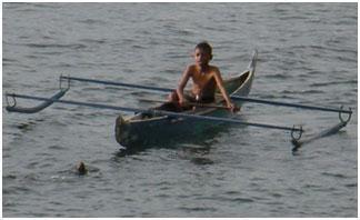 bateau traditionnel à Ambon, Moluques