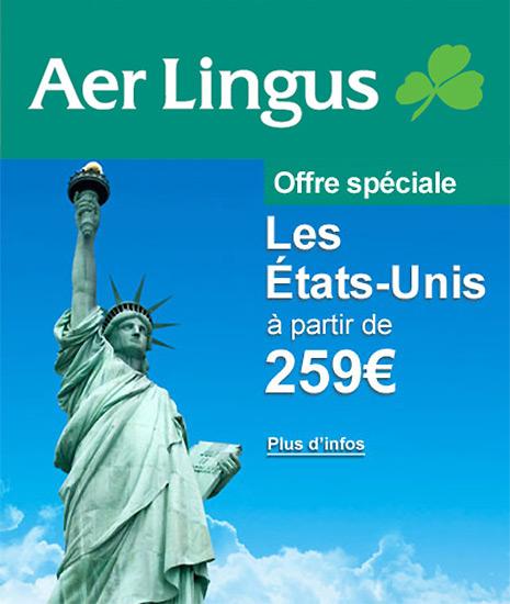 Aer Lingus : USA à partir de 259 €