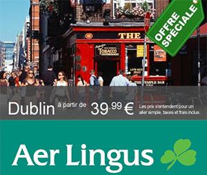 Billet d'avion pour l'Irlande à partir de 39,99 €