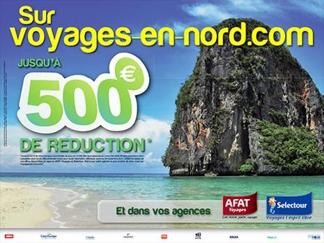 Afat voyages et Sélectour : 500 € de réduction dans le Nord-Pas de Calais