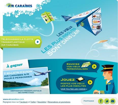 Air Caraïbes - jeu les Voeux sont dans l'air