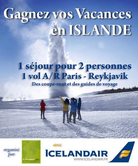 Jeu Gagnez vos vacances en Islande