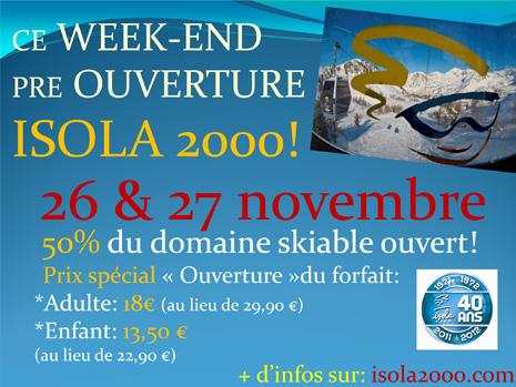 Isola 2000 : ouverture du domaine skiable