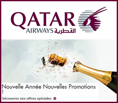 Promotion Qatar Airways de janvier 2013