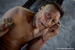 Raya, un aîné nahua. Plus de la moitié de son groupe a été décimé après l'ouverture de son territoire à l'exploration pétrolière. © Johan Wildhagen/Survival