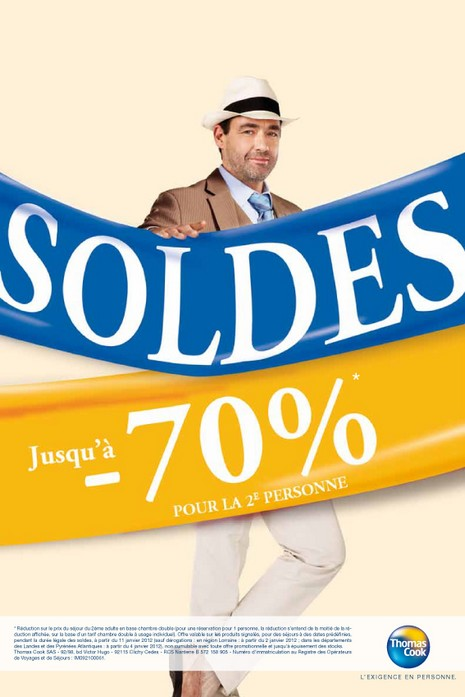 Soldes Thomas Cook : jusqu'à 70% de réduction sur la 2ème personne