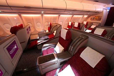 J ai test la classe affaires et la premi re classe qatar for Interieur qatar airways