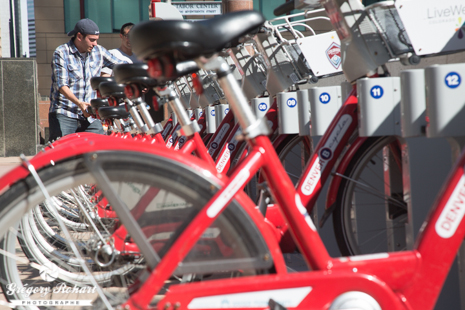 Station de B-Cycle dans Downtown
