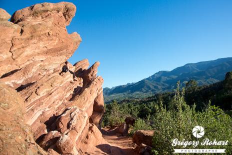Les rochers rouges de Garden of the Gods près de Colorado Springs