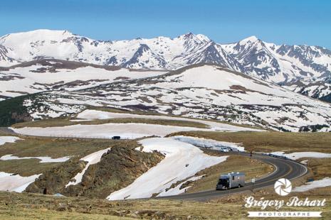 La Trail Ridge Road à environ 3600 mètres d'altitude