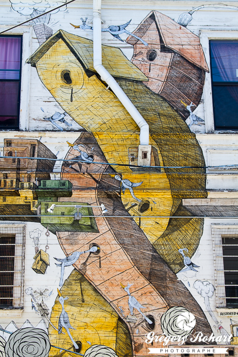 Fresque sans nom d'Aaron Noble sur lexington street
