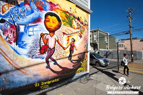 El Inmigrante de Joel Bergner à l'angle de Shotwell street et de la 23th