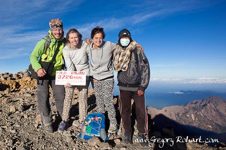 Au sommet du volcan Rinjani