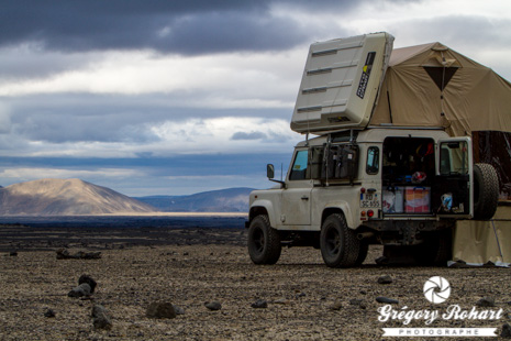 Camping de Drekagil près du volcan Askja