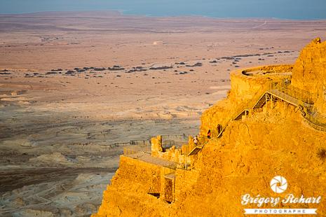 La forteresse de Massada prise par les Romains en 73 après JC