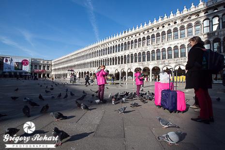 La Place Saint-Marc et ses pigeons