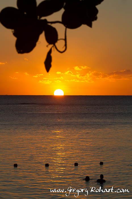 Coucher de soleil à Trou aux Biches