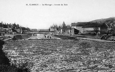L'arrivée du bois de flottage à Clamecy