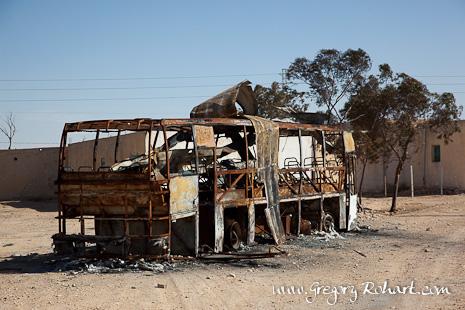 Mareth : un bus appartenant à la famille Trabelsi a étérûlé pendant la révolte