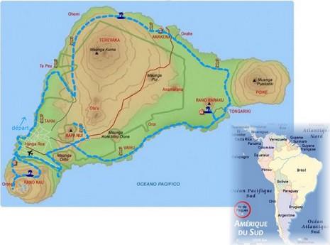 Carte île de Pâques