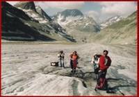 Pause sur le glacier d'Otemma