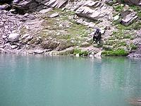 Pêcheur sur le lac Palluel