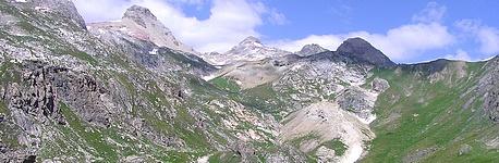 Grand Galibier à gauche et crête de la Ponsonnière à droite