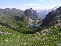 Le Grand Lac depuis la crête de la Ponsonnière