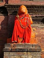 Patan - Statue d'Hanuman
