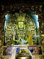 Swayambhunath - gomba - statue avalokiteshvara
