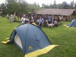 Notre campement dans le village de Vavua