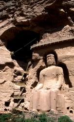 Le grand Bouddha de 24 mètres, sur le site de Binglingsi