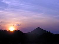 Crépuscule dans le Kaokoland (Etanga)