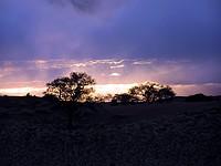 Crépuscule sur la Namid Rand Nature Reserve