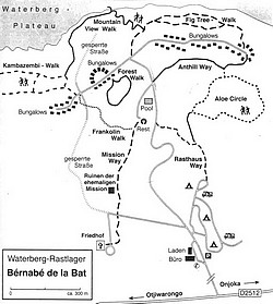 Carte du Waterberg